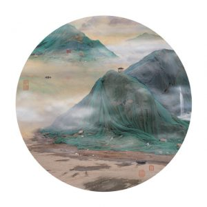 Chinese artist Yao Lu has made traditional ink paintings of China's majestic landfills