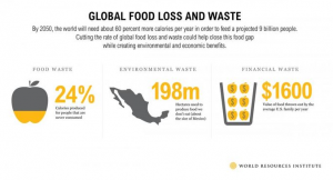 Part of creating a sustainable future is reducing food loss and waste at the home level. This simple infographic makes the issue very clear